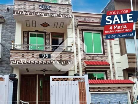 4 Marla Brand New Double Storey House Is Available For Sale In G131  in G131
