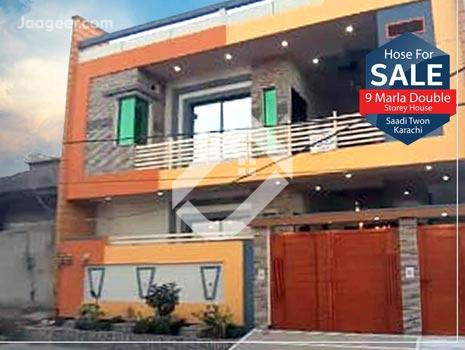 9 Marla Double Storey House Is Available For Sale In Saadi Town in Saadi Town